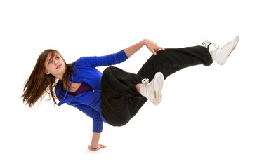 Sporty Teenage Break Dancer in Action
