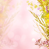 Floral holiday background