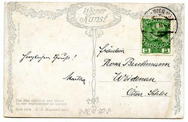 old used postcard