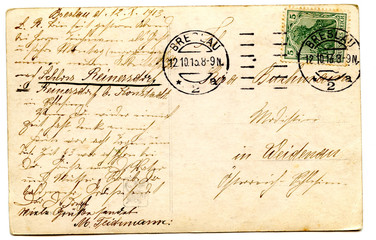 old used postcard
