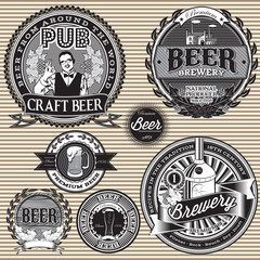 set  retro icons to topic beer