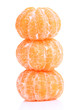 Ripe sweet tangerines, isolated on white