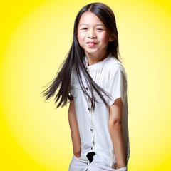 Beautiful smiling little asian girl