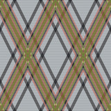 Rhombic tartan brown and gray fabric seamless texture