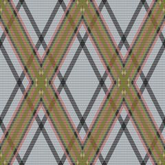 Rhombic tartan brown and gray fabric seamless texture