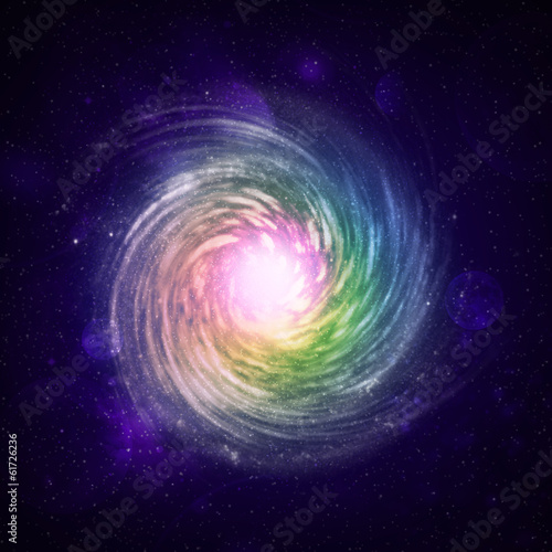 Illustration of a spiral galaxy