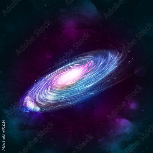 Illustration of a spiral galaxy Poster