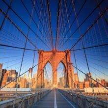 Brooklyn Bridge au soleil couchant