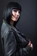 Beauty Portrait. Beautiful woman on a black background