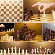 Collage of chess game