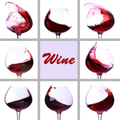 Red wine collage