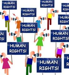 Manif pour les droits de l'homme