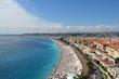 Plage de Nice, promenade des anglais (France, côte d'Azur)