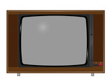 Illustration of old TV on the white background. Vector.