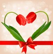 Holiday background with two flowers. Vector