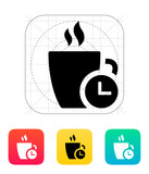 Coffe cup with Time icon.