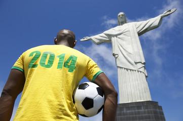 Brazilian Football Soccer Player 2014 Shirt Corcovado Rio