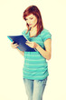 Teen student girl with notepad