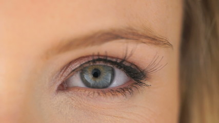 Open eye of a beautiful woman