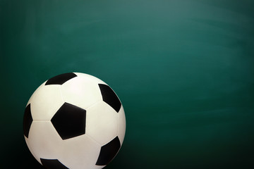 Soccer and Chalkboard
