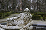 Neptune.Ornamental fountains of the Palace of Aranjuez, Madrid,