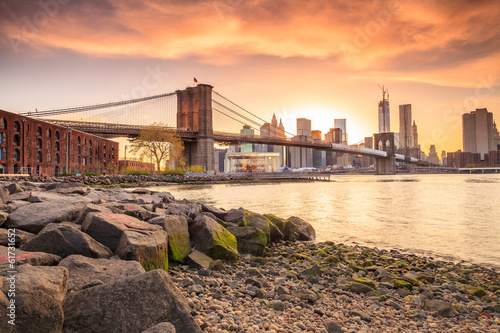 Brooklyn Bridge at sunset