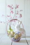 Easter Holiday Themed Still Life Scene in Natural Light