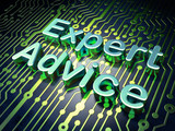 Law concept: Expert Advice on circuit board background