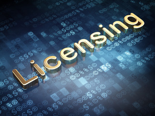 Law concept: Golden Licensing on digital background