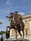 The Equestrian Statue of Marcus Aurelius in Rome