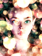 Fairy portrait with bokeh