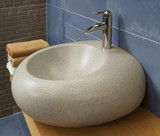 detail of a modern bathroom with granite sink