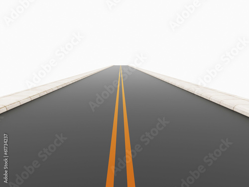 Road rendered on white
