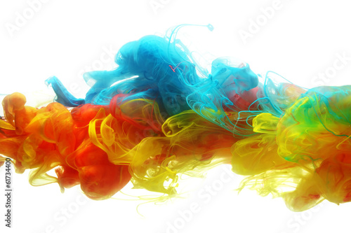 Colorful ink in water - 61734400