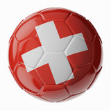 Soccer ball. Flag of Switzerland