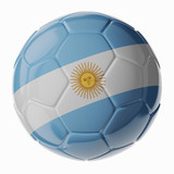 Soccer ball. Flag of Argentina
