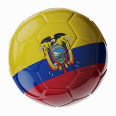Soccer ball. Flag of Ecuador