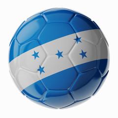 Soccer ball. Flag of Honduras