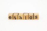 ethics wording isolate on white background