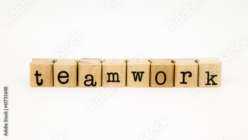 teamwork wording isolate on white background