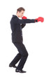 Young Businessman Boxing