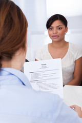 Businesswoman Interviewing  Female Applicant