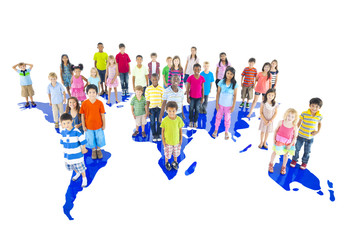 Large Group of World Children