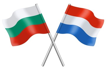Flags: Bulgaria and Luxembourg