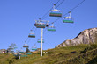 Chairlifts at La Plagne in France