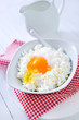 cottage with eggs and sugar