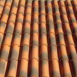 ceramic tile roof background