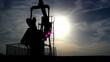 Pumpjack silhouette