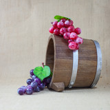 grapes on wooden