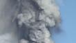 Volcanic plume ash from Etna